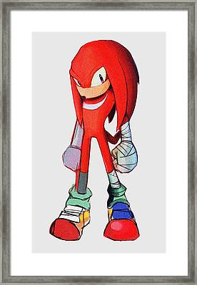 Knuckles Sketch Framed Print