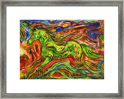 Ko Bush Brumbie Ahau Framed Print