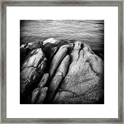 Ko Samet Rocks In Black Framed Print by Joseph Westrupp