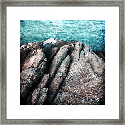 Framed Print featuring the photograph Ko Samet Rocks by Joseph Westrupp