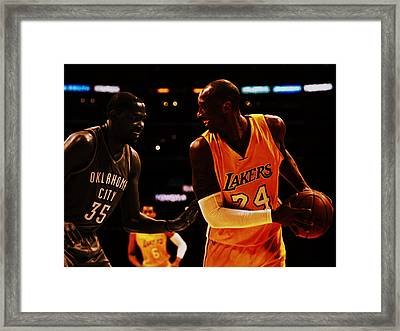 Kobe And Durant Framed Print by Brian Reaves