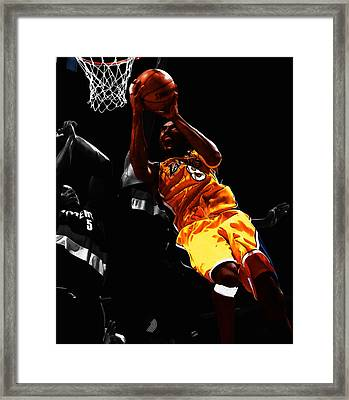 Kobe Bryant 8a Framed Print by Brian Reaves