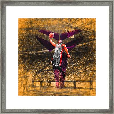Kobe Bryant Black Mamba Digital Painting Framed Print by David Haskett