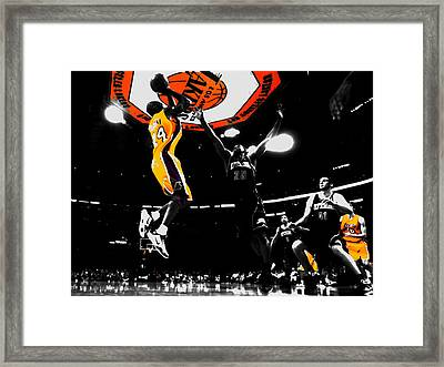 Kobe Bryant Count It Framed Print by Brian Reaves