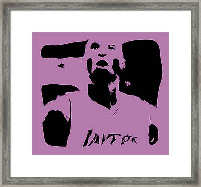 Kobe Bryant Crunch Time Framed Print by Brian Reaves