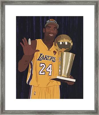 Kobe Bryant Five Championships Framed Print