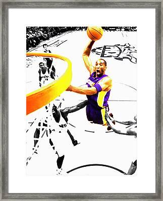 Kobe Bryant Flight Mode Framed Print by Brian Reaves