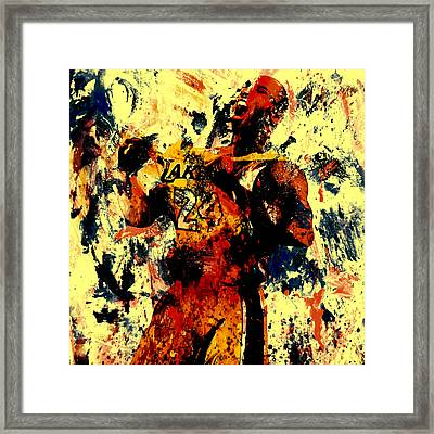 Kobe Bryant In A Zone Framed Print