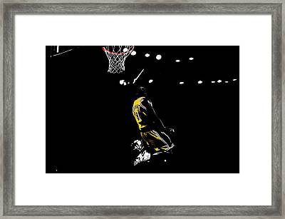 Kobe Bryant In Flight 08c Framed Print by Brian Reaves