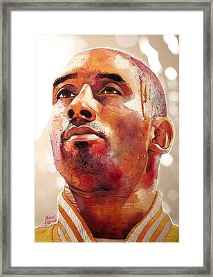 Kobe Bryant Lakers Final Game Gold Edition Framed Print by Michael Pattison