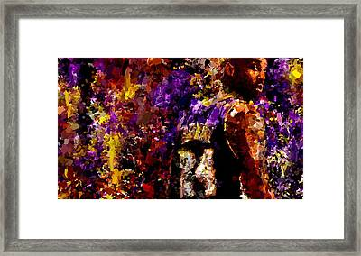 Kobe Bryant Looking Back Signed Prints Available At Laartwork.com Coupon Code Kodak Framed Print