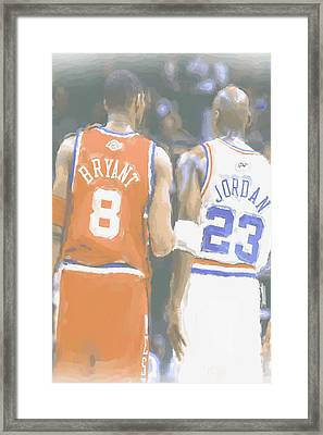 Kobe Bryant Michael Jordan 2 Framed Print by Joe Hamilton