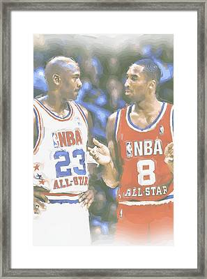 Kobe Bryant Michael Jordan Framed Print by Joe Hamilton