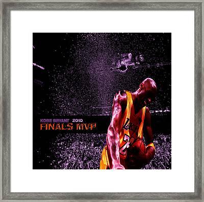 Kobe Bryant Nba Finals Framed Print