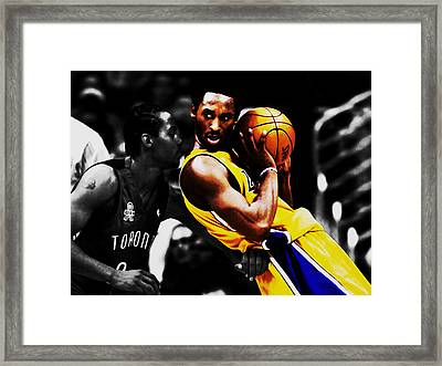 Kobe Bryant School Time Framed Print by Brian Reaves