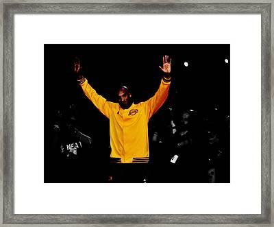 Kobe Bryant Thanks For The Memories Framed Print by Brian Reaves