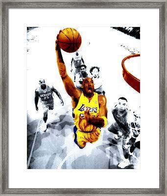 Kobe Bryant Took Flight Framed Print by Brian Reaves