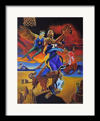 The Black Mamba Framed Prints