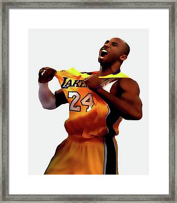 Kobe Sweet Victory 2 Framed Print by Brian Reaves