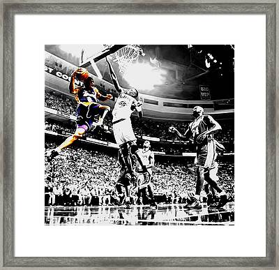 Kobe Taking Flight Framed Print by Brian Reaves