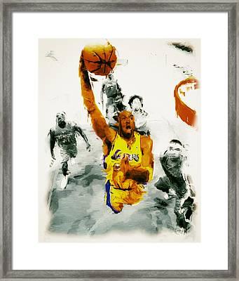 Kobe Took Flight 3a Framed Print by Brian Reaves