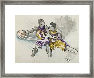 Kobe Vs Kobe Framed Print by Gregory Taylor