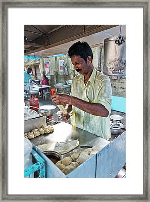 Framed Print featuring the photograph Kochi Stall by Marion Galt