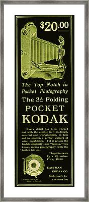 Kodak 3a Folding Camera Ad Framed Print