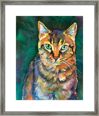 Framed Print featuring the painting Kodi by Christy Freeman
