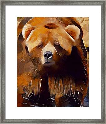 Kodiak Bear Painting  Framed Print