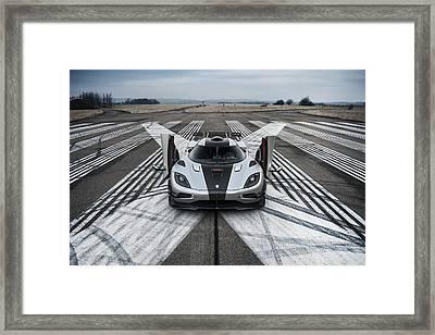 Koenigsegg One1 Framed Print