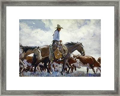 Koerner: Cowboy, 1920 Framed Print by Granger