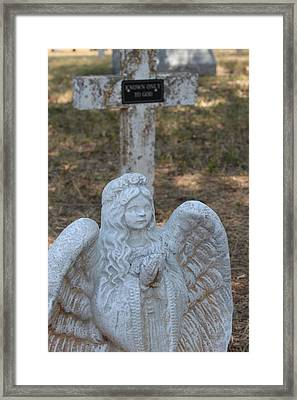 Kog Angel Framed Print by PhotoPhotopia Melody Fulton