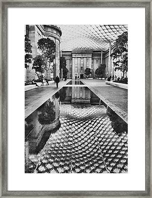 Kogod Courtyard I Framed Print by Steven Ainsworth