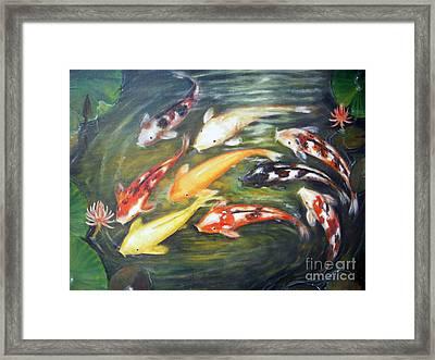 Koi 1 Framed Print by Edy Sutowo