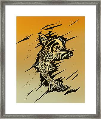 Koi 2 Framed Print by Jeff DOttavio