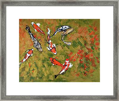 Koi 201746 Framed Print by Alyse Radenovic