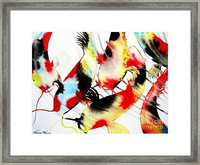 Koi Dance Framed Print