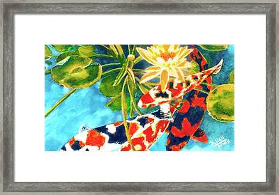 Koi Fish #104 Framed Print by Donald k Hall