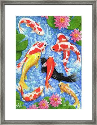 Koi Fish Framed Print