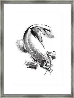 Koi Fish Framed Print by Mariusz Szmerdt