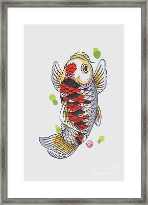 Koi Fish Framed Print by Shih Chang Yang