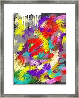 Koi Fish Framed Print by Snake Jagger
