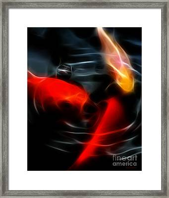 Koi Fish Framed Print by Wingsdomain Art and Photography