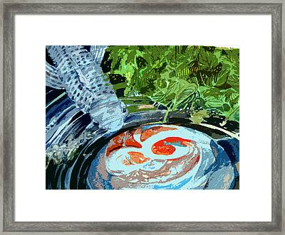 Koi Garden Framed Print by Mindy Newman