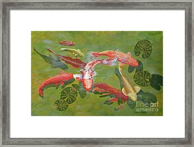 Koi I Framed Print by Jennifer  Donald
