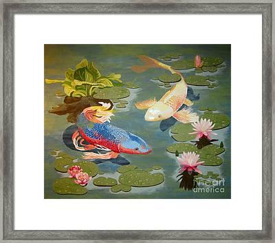 Koi II Framed Print by Jennifer  Donald