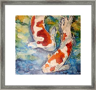 Koi In Alcohol Framed Print by P Maure Bausch