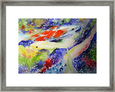 Koi Framed Print by Joanne Smoley