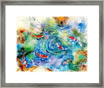 Koi Joy Framed Print